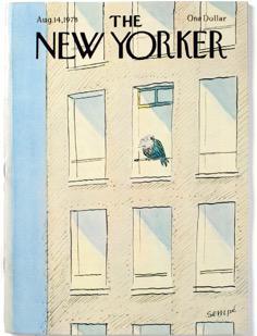 桑贝为《纽约客》绘制的第一幅封面