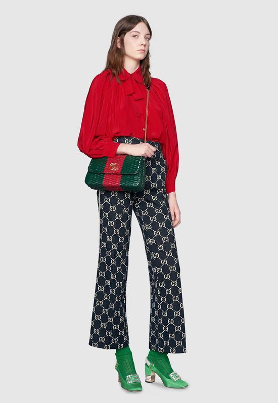 真絲泡泡袖襯衫 Gucci ¥10900