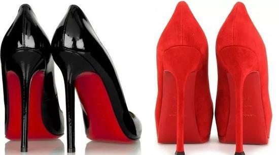 """由于""""红底鞋""""商标的特殊性和名气,无论是Zara等快时尚还是奢侈品牌Saint Laurent纷纷""""借用""""这一特征来设计鞋履"""