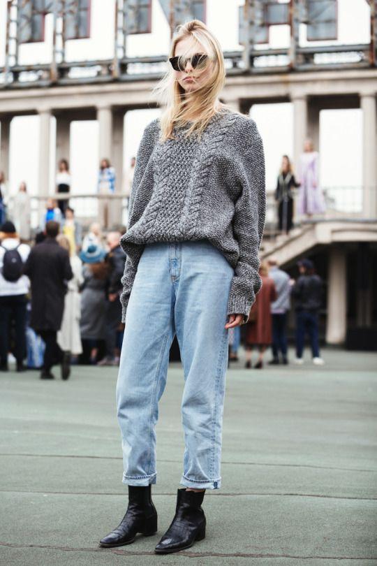 毛衣+牛仔裤 秋冬最气质的穿搭