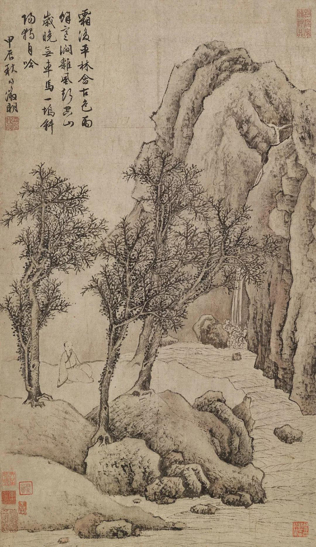 Lot957 明 沈周 柳湖图