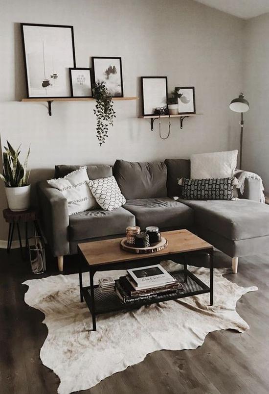 深色沙发搭配 图片源自wohnzimmerideen .ml