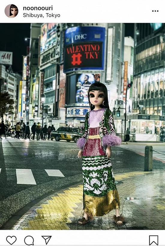 努努在东京街头的写真