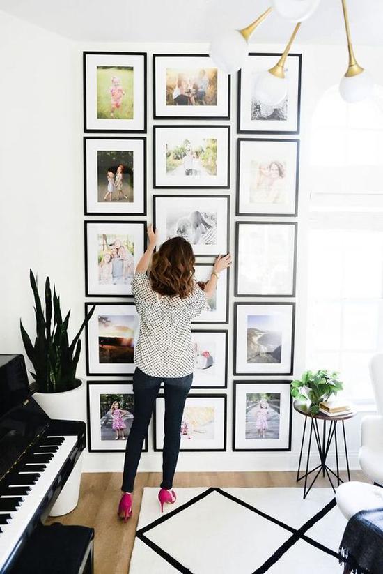 家居照片墙 图片来源自Pinterest@ Saul's Hairs