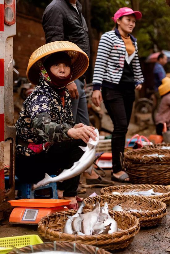 ▲她手上拿的是小鲨鱼?图/视觉中国