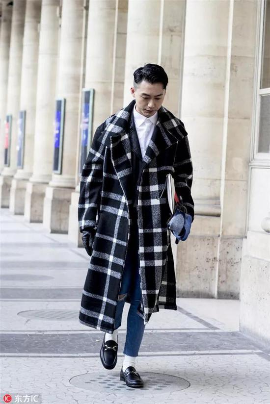 大衣+一身黑