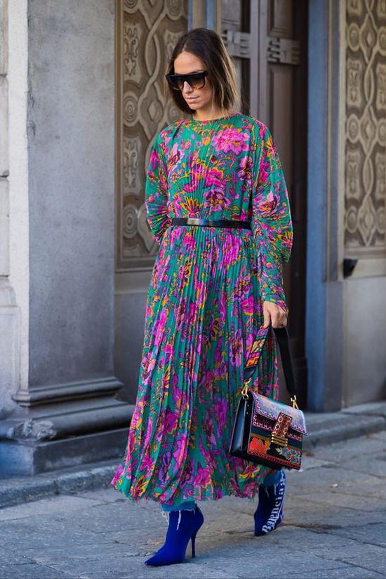 花裙子 图片来源自POPSUGAR Fashion