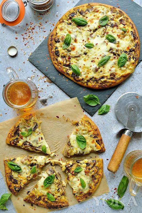 全素蔬菜披萨 图片来自pinester