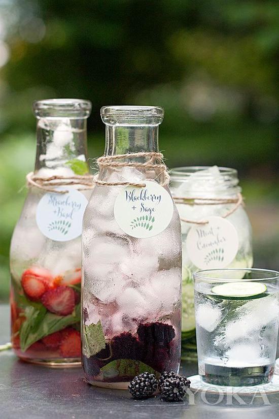 簡單的冰蘇打水+水果,立刻就感覺很美味 圖片來自countryliving.com