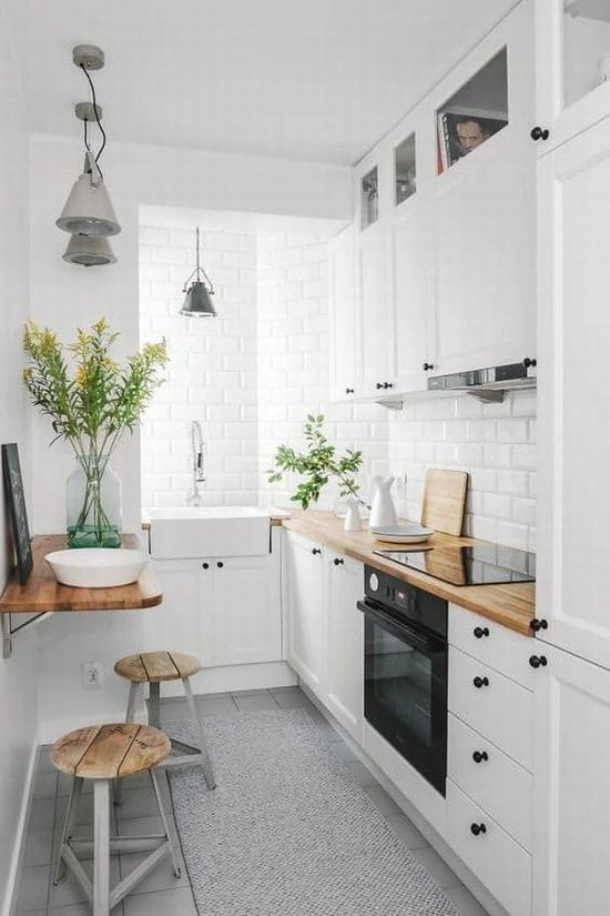 用鲜花、绿植来提升颜值 图片源自www.apartmenttherapy.com