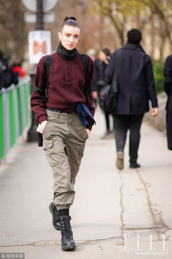 时髦秋天 多亏一件纯色大卫衣doupocangq