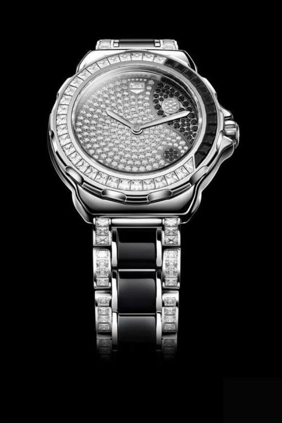 豪雅中国太极Lady Yin Yang腕表