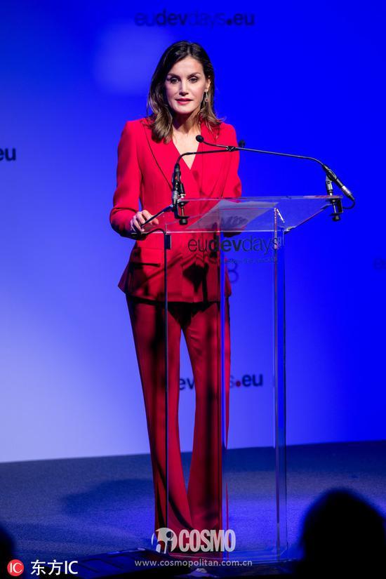 西班牙王后出席欧洲发展日论坛