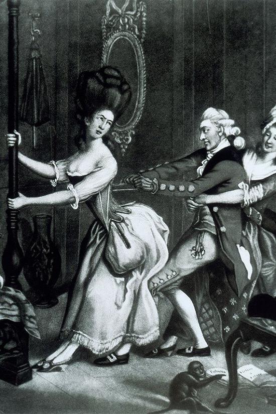 17世纪穿束身衣的女性 图片来源:Vogue