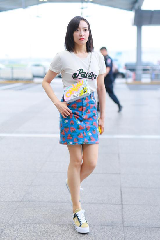 时髦精必须拥有 这条短裙还能再流行十年短裙印花A字裙