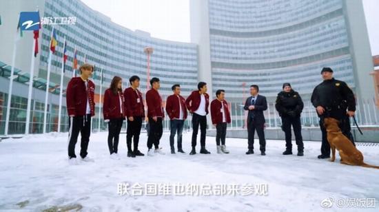 《奔跑吧兄弟》花絮照 图片来源自微博@娱饭团