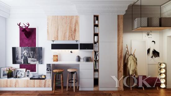 一个人的厨房有一个桌面就足矣 图片来自宜家家居