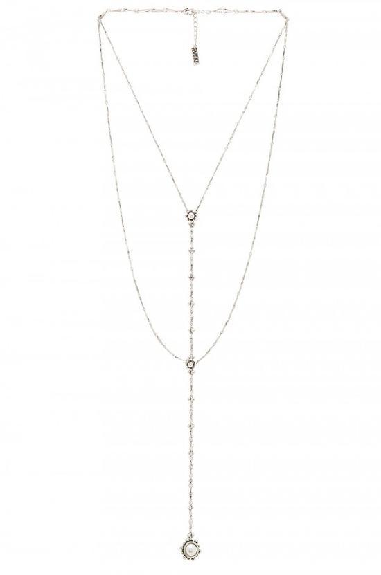 Luv AJ 镀银多层项链组合,¥690.00