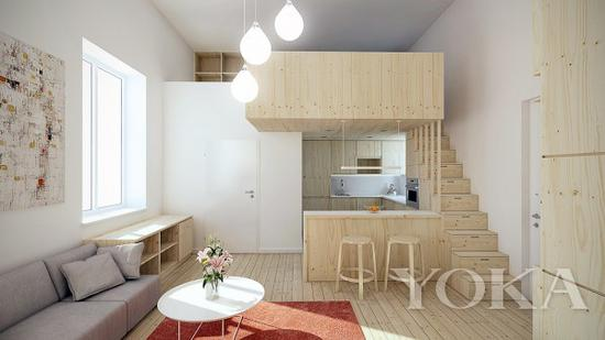 将卧室放在上层可以轻松划分动静区域 图片来自home-designing.com