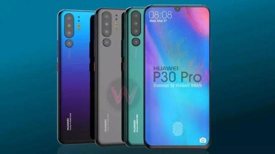 以上为Youtuber Waqar Khan发布了关于华为P30 Pro的概念渲染