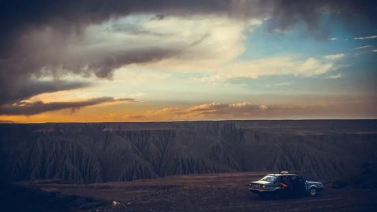 ▲在日暮前抵达奎屯河大峡谷
