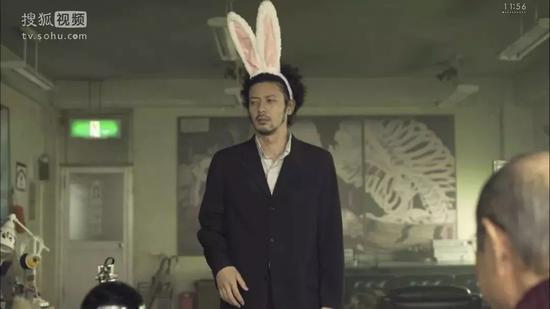 """""""兔男郎""""造型"""