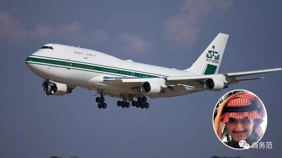 ▲ 沙特王子的波音747