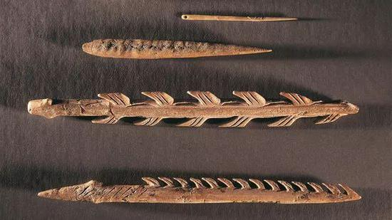 在法国西南部发现的鱼钩,可追溯至1.1万到1.9万年前。 法国国家考古博物馆 图