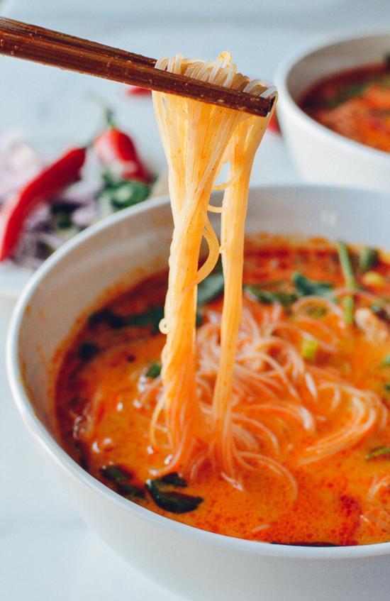 泰式咖喱牛肉面 图片源自thewoksoflife.com