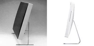 ▲博朗 LE1 扬声器与苹果 iMac
