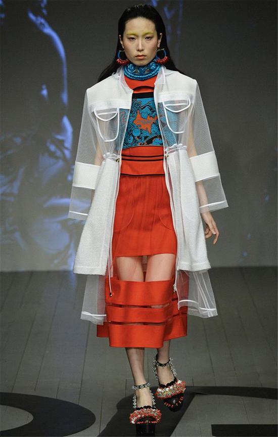 错过了伦敦时装周透明雨衣不要紧 半透明薄纱或许更适合你