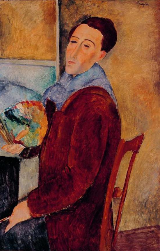 莫迪利亚尼,《自画像》,1919年