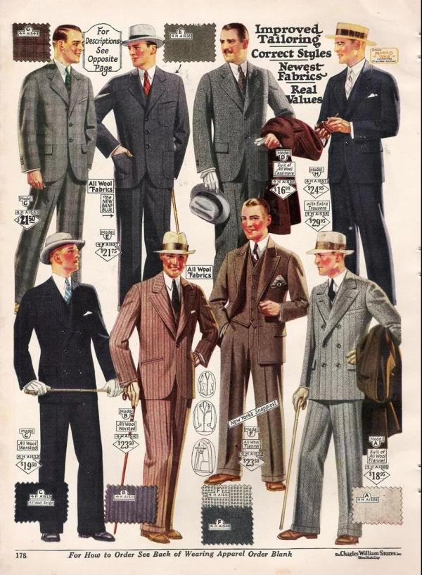 二十世纪的男装