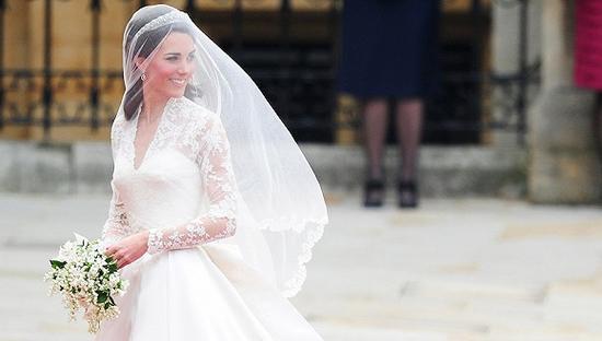 凯特王妃婚纱上的蕾丝成了濒危物件