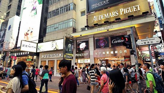 香港铜锣湾 图片来源:《南华早报》