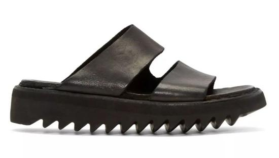 Guidi Black Leather Double Strap Sandals $263