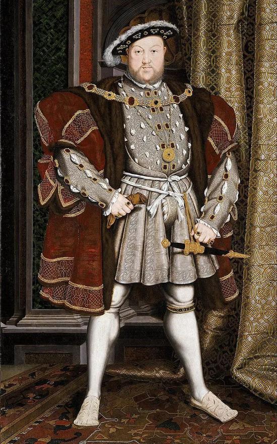 ▲ 英格兰亨利八世画像,现藏于英国利物浦博物馆