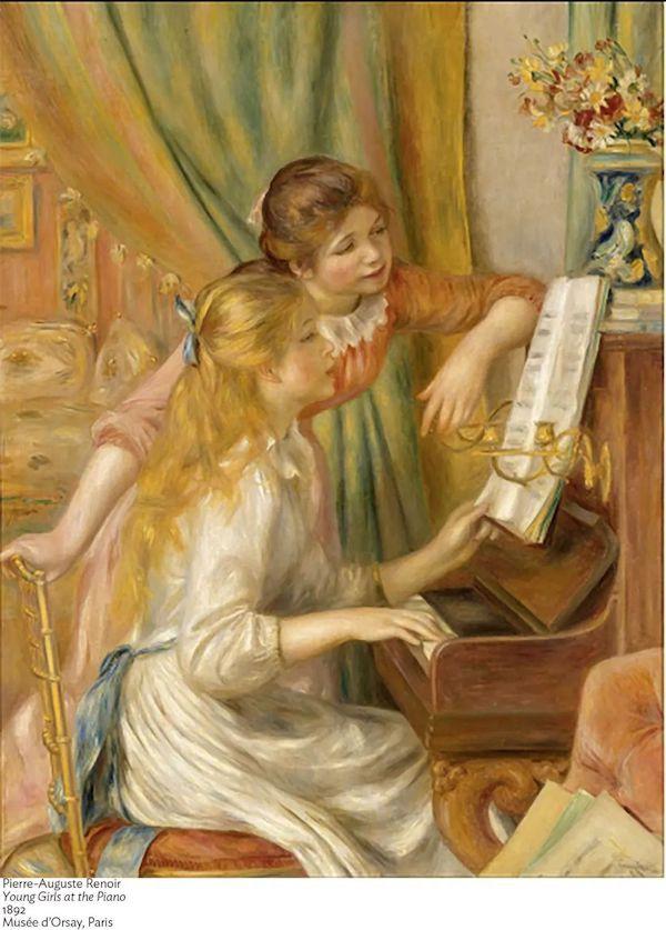 雷诺阿 《在钢琴边的女子》
