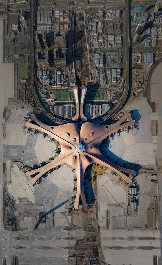 北京大兴国际机场航拍 ©李召麒