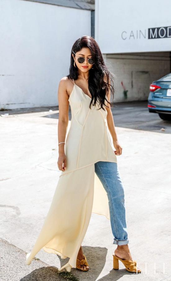 袁泉同款雪纺长裙穿不出高质感?不存在的