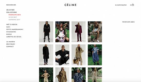 CELINE 2017年的电商网站