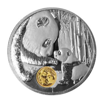 中國熊貓金幣發行40周年紀念章將乖萌上線