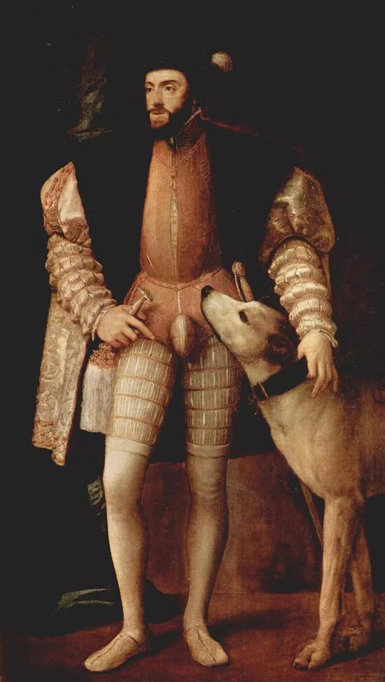 ▲ 1533 年,意大利画家提香(Titian)创作的西班牙查理五世画像