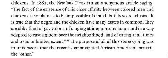 引自Adrian Miller著作Soul Food: The Surprising Story of an American Cuisine, One Plate at a Time, P58