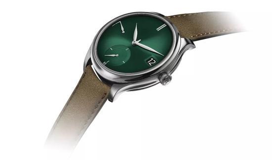 亨利慕时勇创者万年历PURITY宇宙绿腕表