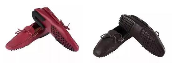Agnelli版(左)和普通版后跟的区别