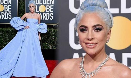 Lady Gaga在2019年金球奖上用的是Marc Jacobs的彩妆 图片来源:Daily Express