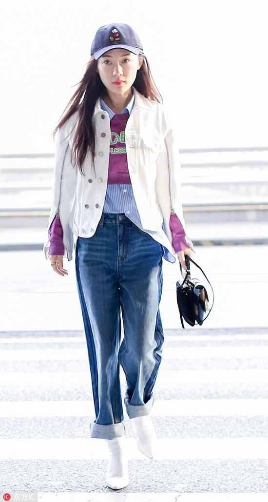 欧阳娜娜关晓彤教穿衣 牛仔外套偏不选蓝色