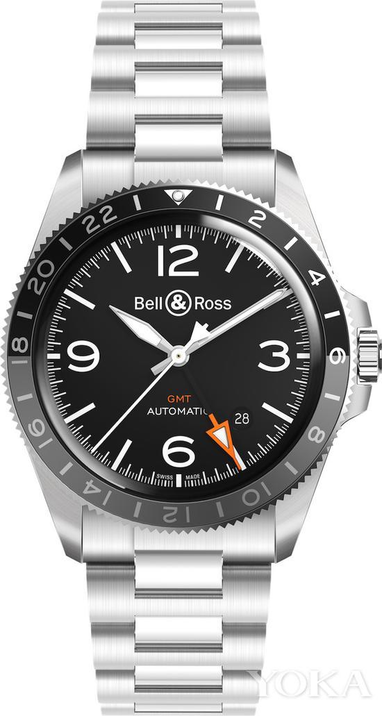 柏莱士BR V2-93 GMT 腕表 约22300元 图片来自品牌