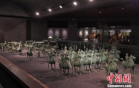 图为甘肃省博物馆馆藏文物。(资料图) 杨艳敏 摄